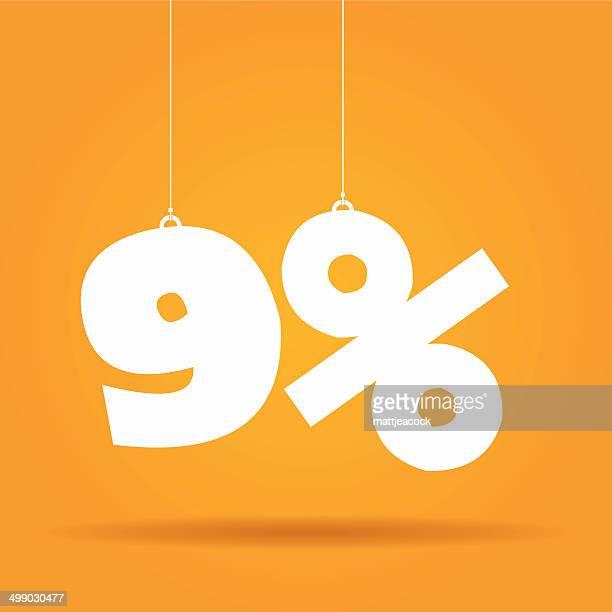 Prozentsatz hängen label