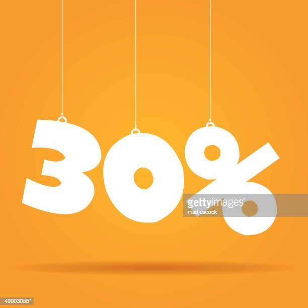percentage hanging label - percentage sign stock illustrations