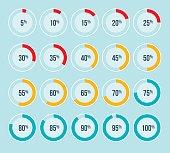 Percentage Pie Charts