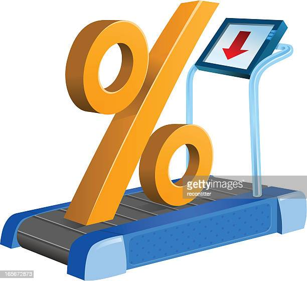 percentage sign on health track concept - leisure facilities stock illustrations, clip art, cartoons, & icons