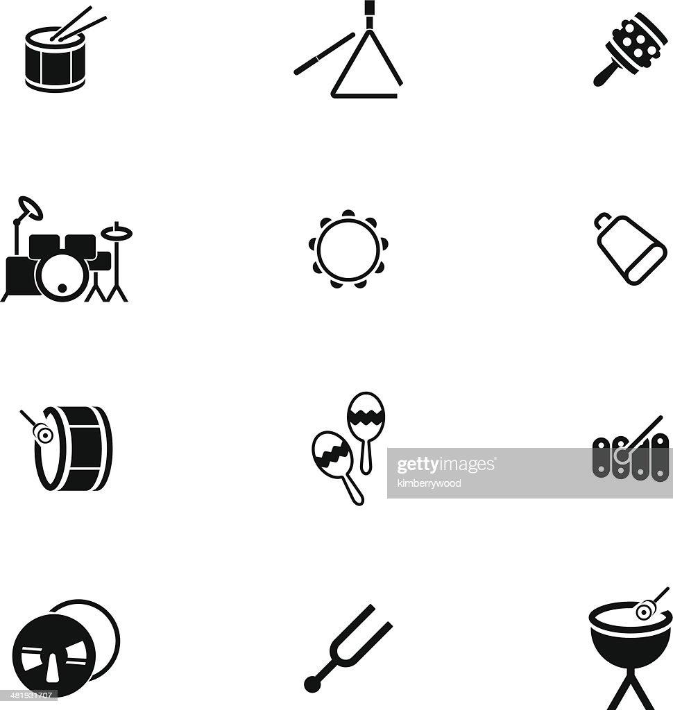 Percussion Icon Set