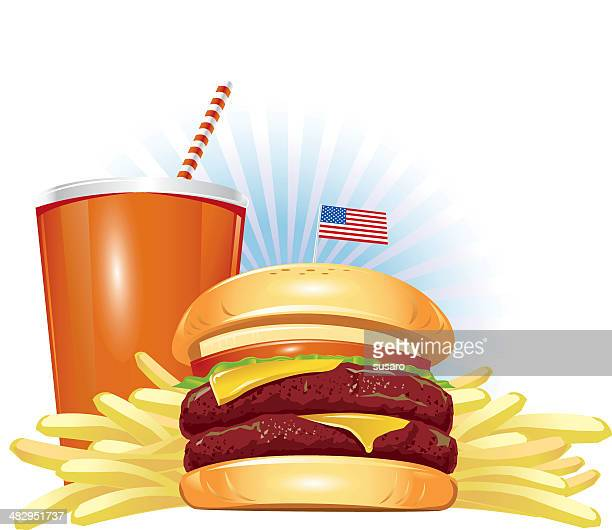 perfect combo! - french fries stock illustrations, clip art, cartoons, & icons