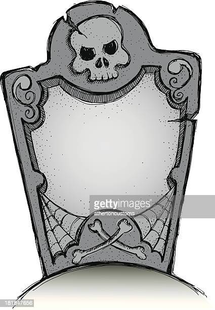 perfect tombstone in color - tombstone stock illustrations