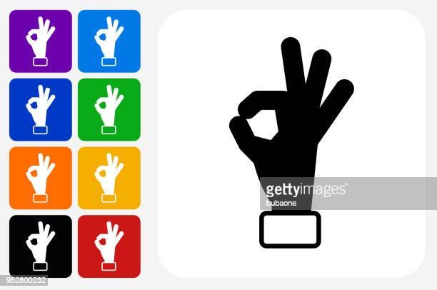 Perfektion Hand Symbol Square Buttonset