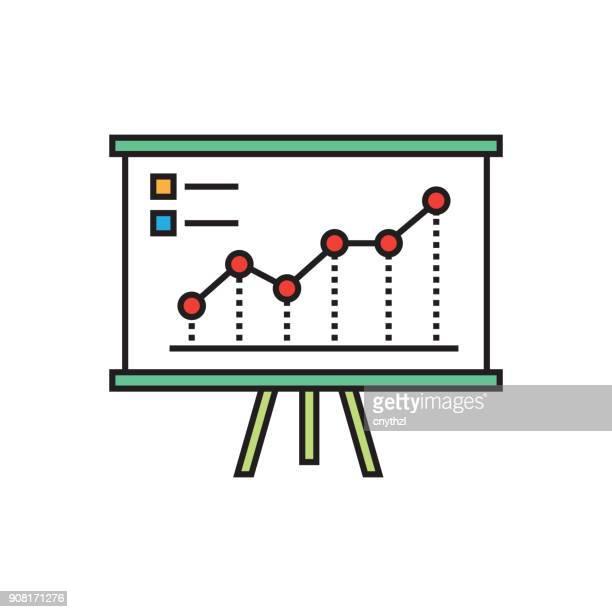ilustraciones, imágenes clip art, dibujos animados e iconos de stock de rendimiento gráfico línea plana diseño - modelo de modas