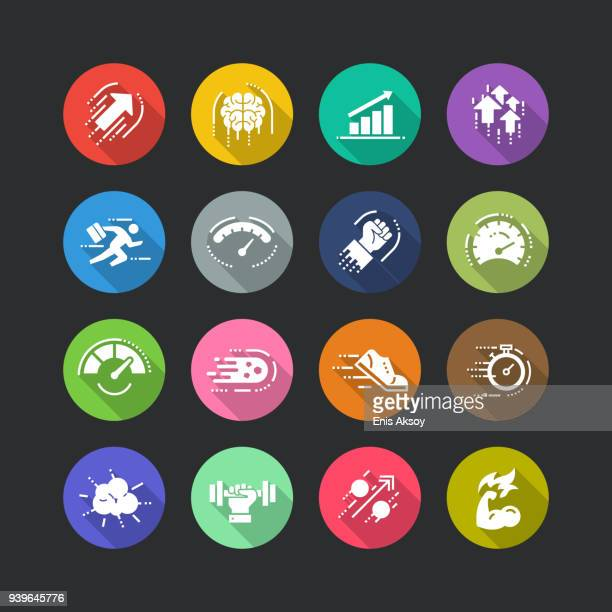 Performance Flat Icon Set