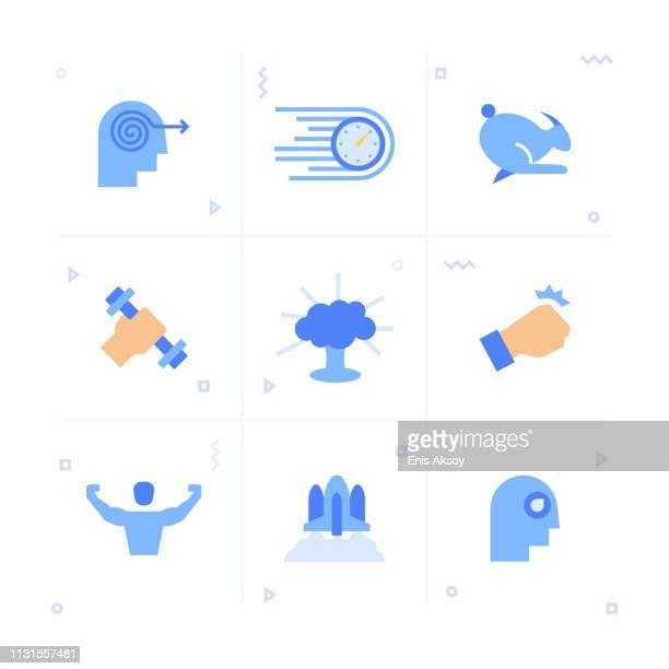 ilustrações, clipart, desenhos animados e ícones de jogo do ícone do desempenho - sprint