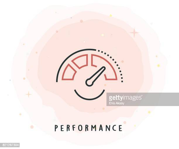 Performance Icon with Watercolor Patch