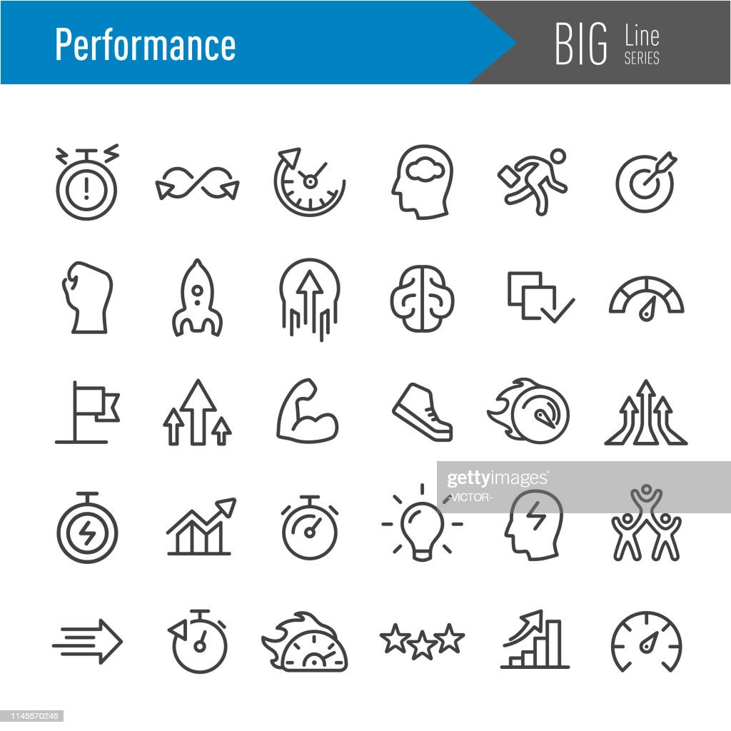 Performance Icons - Big Line Series : Stock Illustration