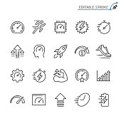 Performance line icons. Editable stroke. Pixel perfect.