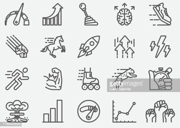 performance line icons - horse stock illustrations