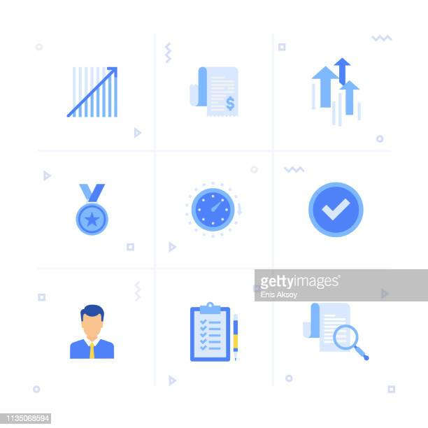 performance management icon set - power outage stock illustrations, clip art, cartoons, & icons