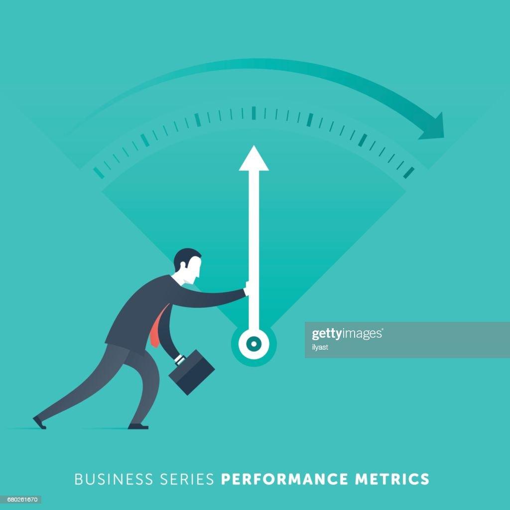 Performance Metrics : stock illustration