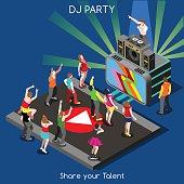 DJ Performance People Isometric