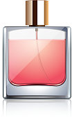 Perfume bottle isolated on white vector