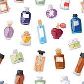Perfume bottle seamless pattern
