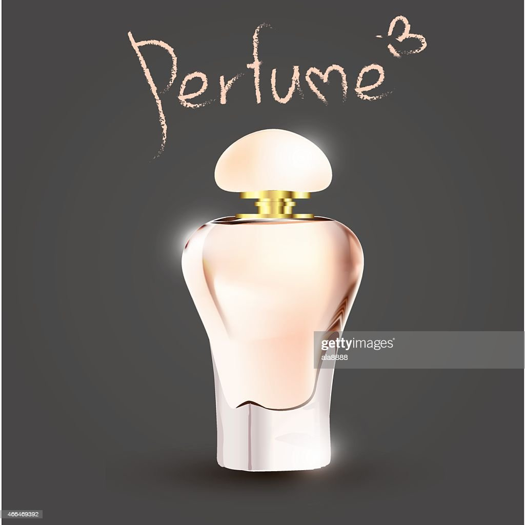 perfume on a gray dark background