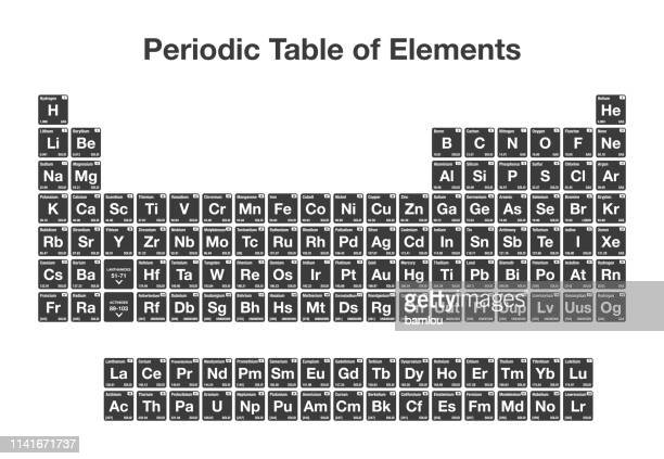 periodic table of elements - physics stock illustrations