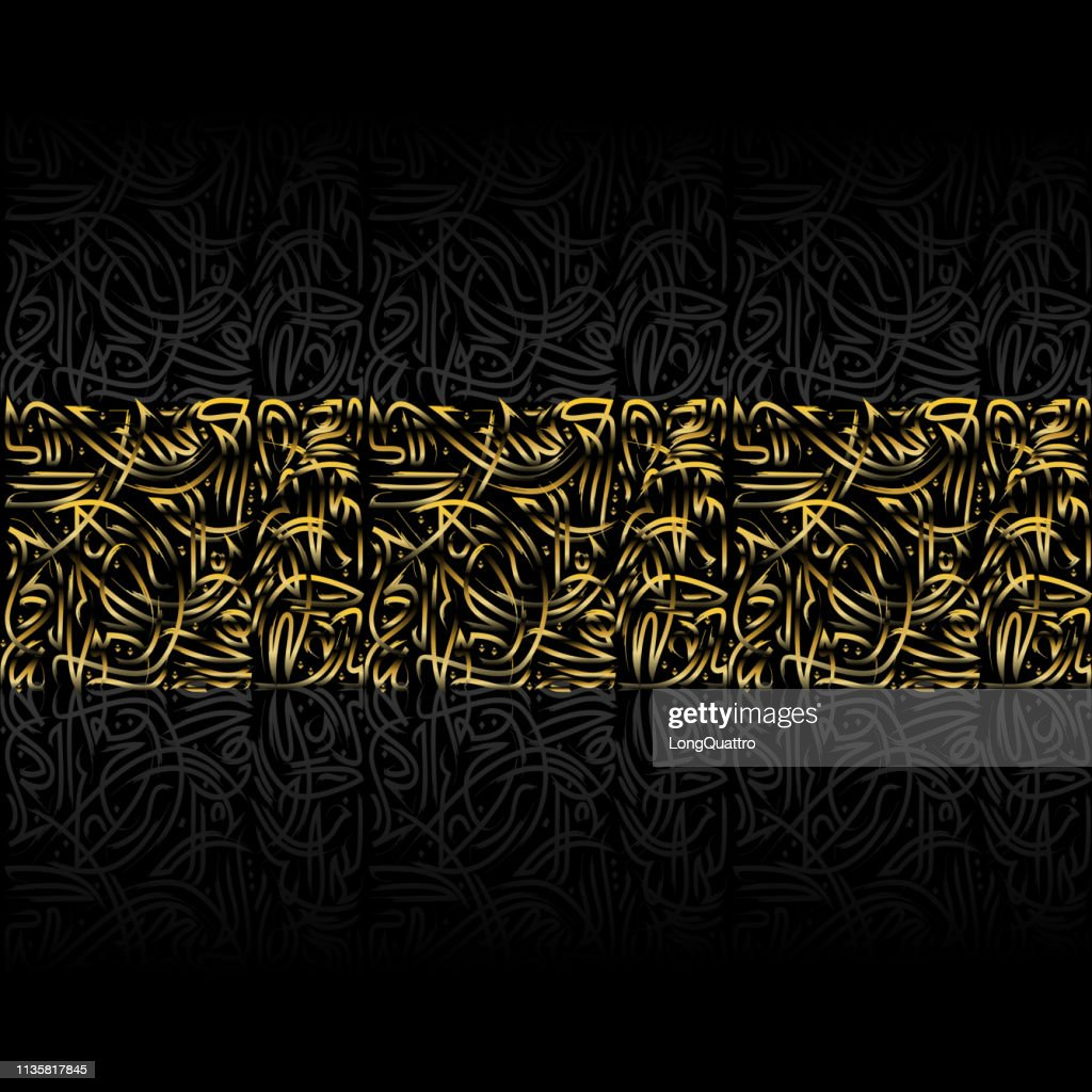 Persian golden linear background