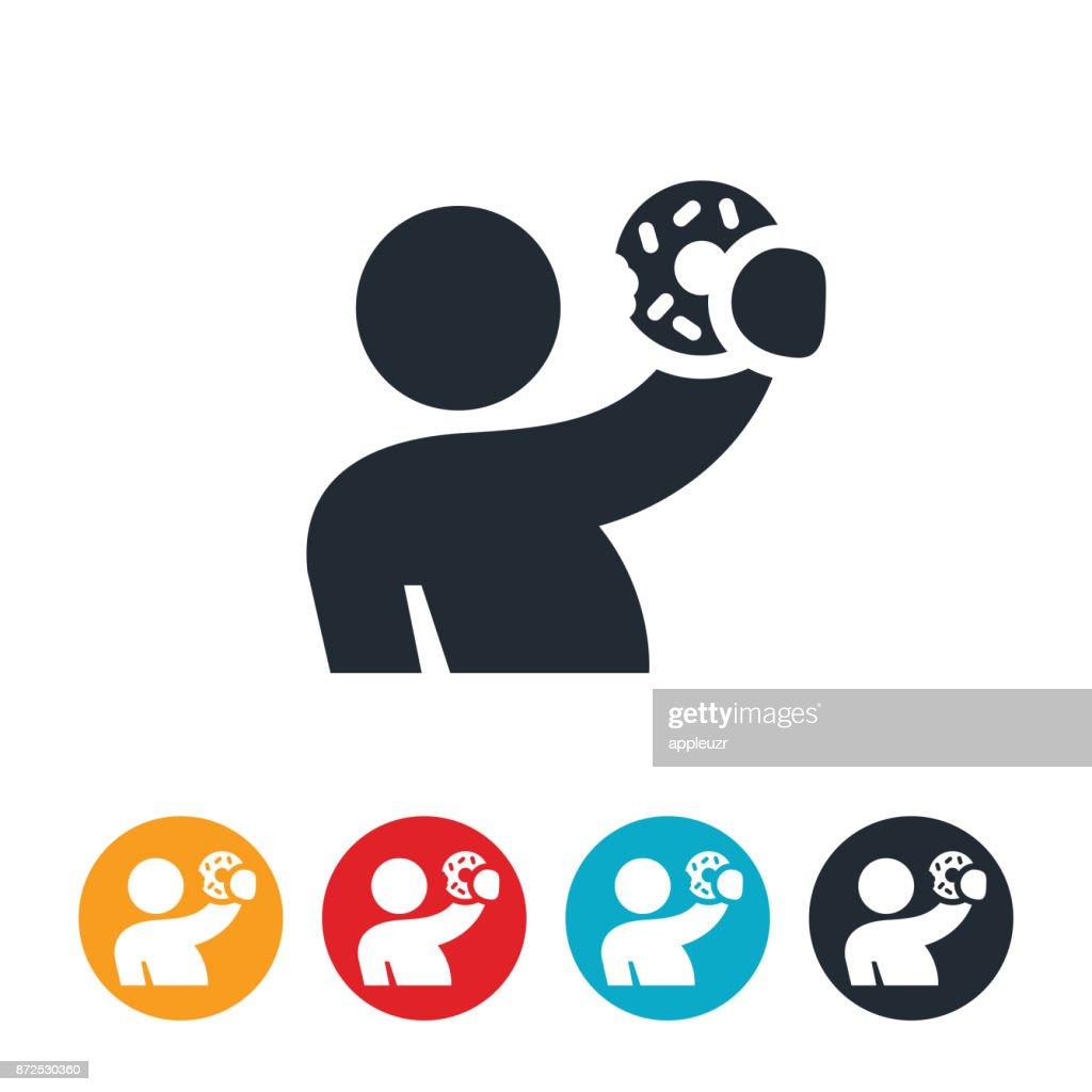 Person Holding Doghnut Icon : stock illustration