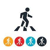 Person In Crosswalk Icon
