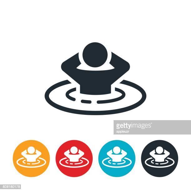 person im whirlpool symbol - nass stock-grafiken, -clipart, -cartoons und -symbole