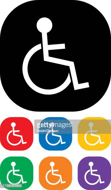 Person In Wheelchair Icon Set