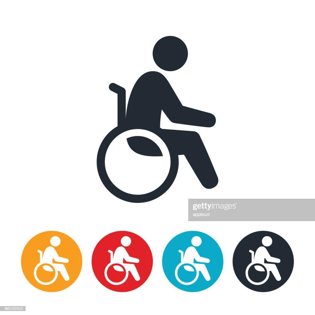 車椅子アイコンの人 : ストックイラストレーション