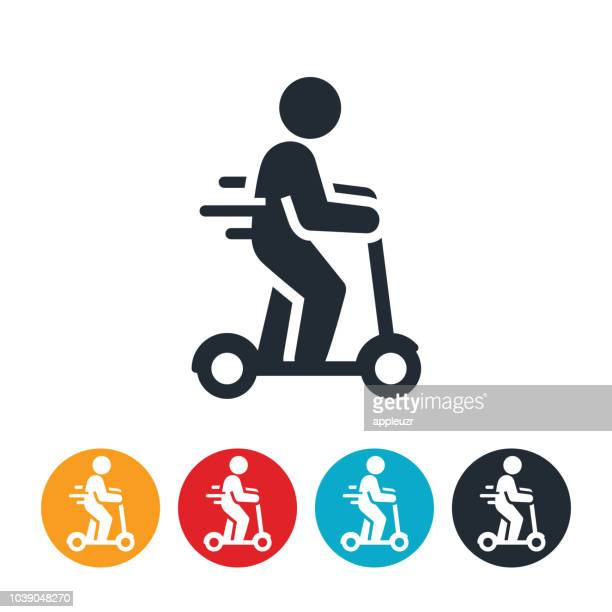 Person Riding an Electric Scooter Icon