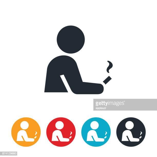 人の喫煙のアイコン