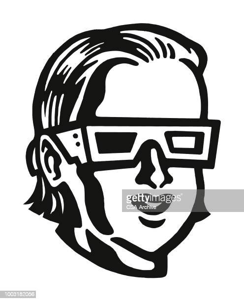 Person Wearing 3D Glasses