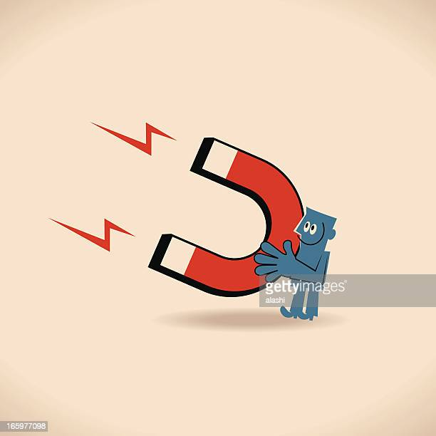 person with magnet - magnet stock illustrations, clip art, cartoons, & icons