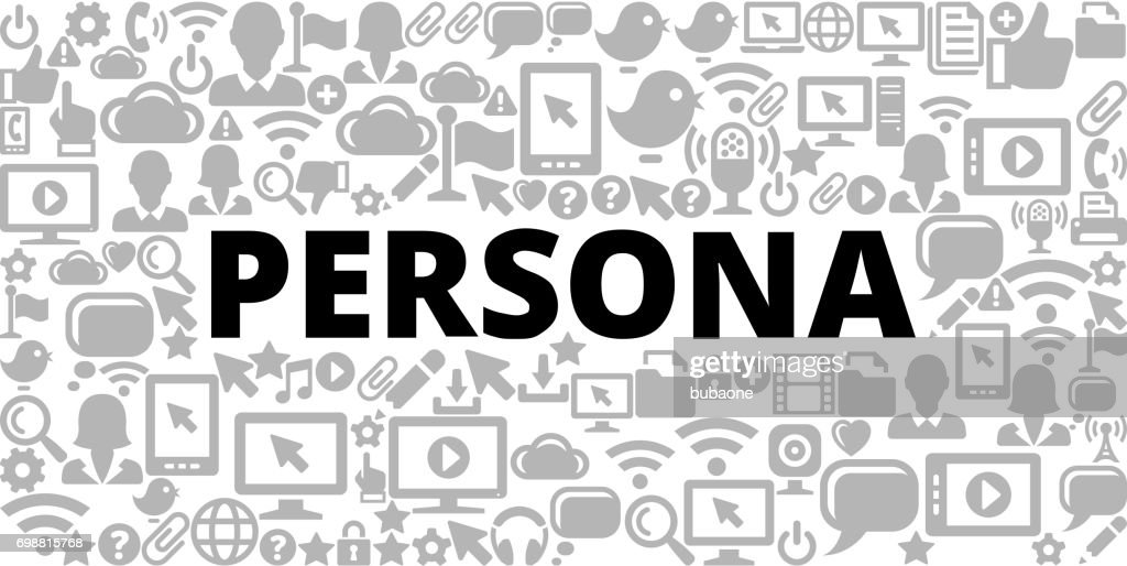 Persona on Technology Internet Communications Vector Icon Background : stock illustration