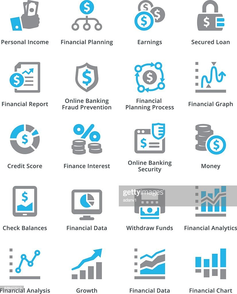 Personal & Business Finance Icons Set 5 - Sympa Series