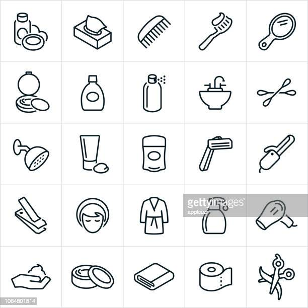 personal care icons - mouthwash stock illustrations, clip art, cartoons, & icons