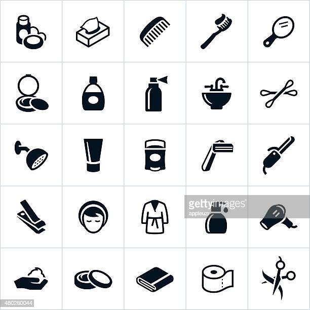 personal care icons - body care stock illustrations