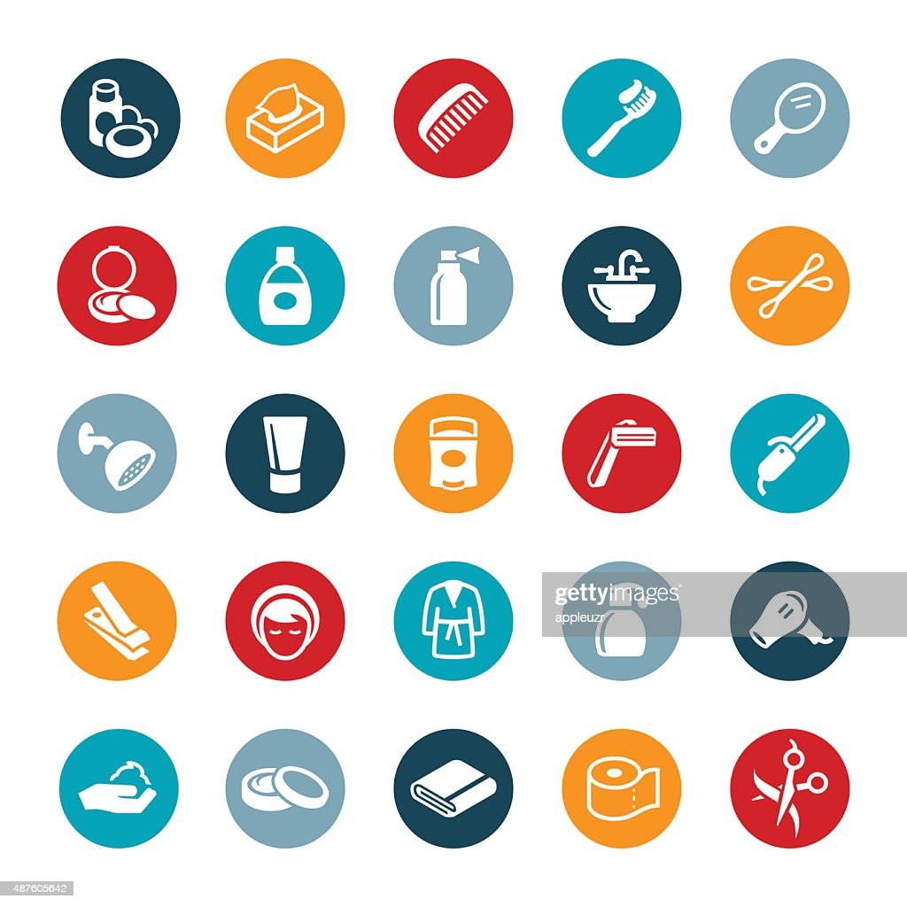 Personal Care Icons : Vector Art
