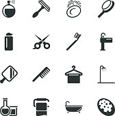 Personal Care Silhouette Icons