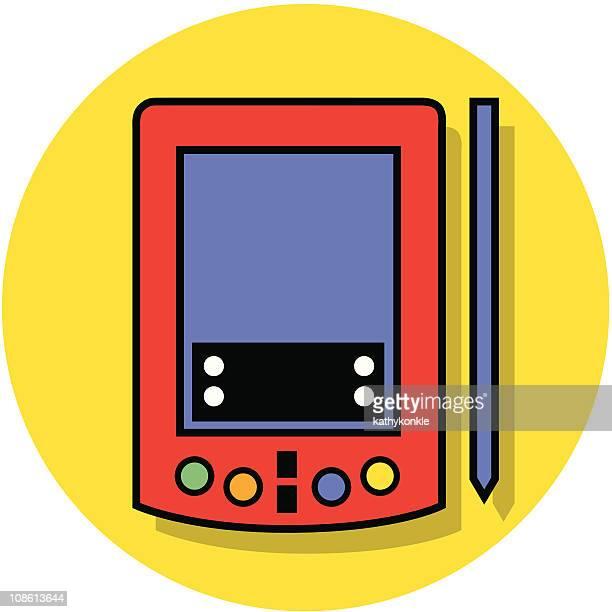 datenspeicher-symbol - electronic organizer stock-grafiken, -clipart, -cartoons und -symbole