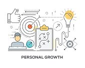 Personal Growth Concept with icons