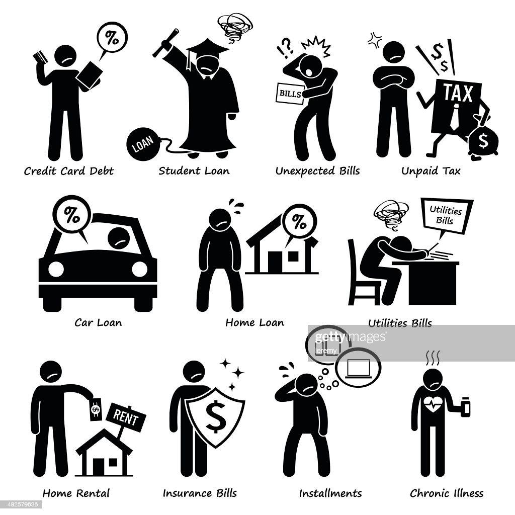 Personal Liabilities - Debt, Loan, Bills, Taxes, Rental, Installments