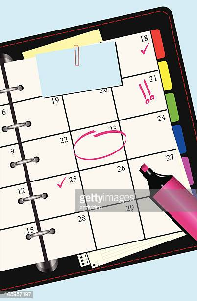 personal organizer - planner - to do list stock illustrations, clip art, cartoons, & icons