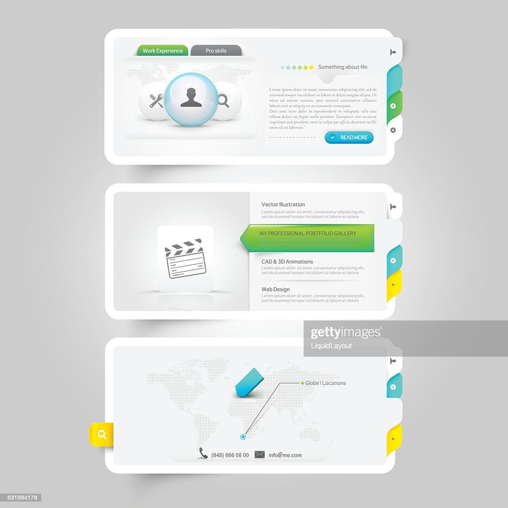 Personal Portfolio template with icons