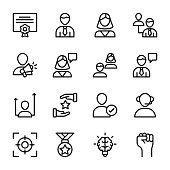 Personal Quality, Employee Management Line Icons Pack