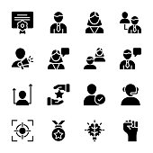 Personal Quality, Employee Management Solid Icons Pack