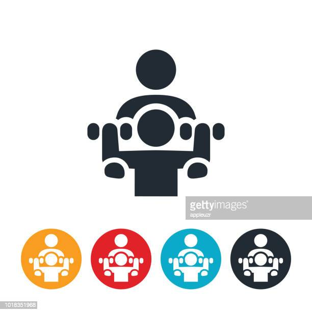 personal trainer icon - physical therapy stock illustrations, clip art, cartoons, & icons