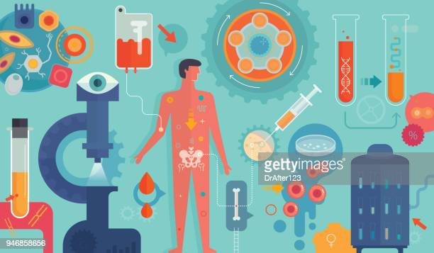 personalised medicine - cancer illness stock illustrations, clip art, cartoons, & icons