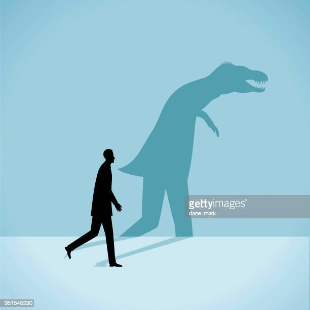 ilustraciones, imágenes clip art, dibujos animados e iconos de stock de ilustración de la personalidad - animal extinto