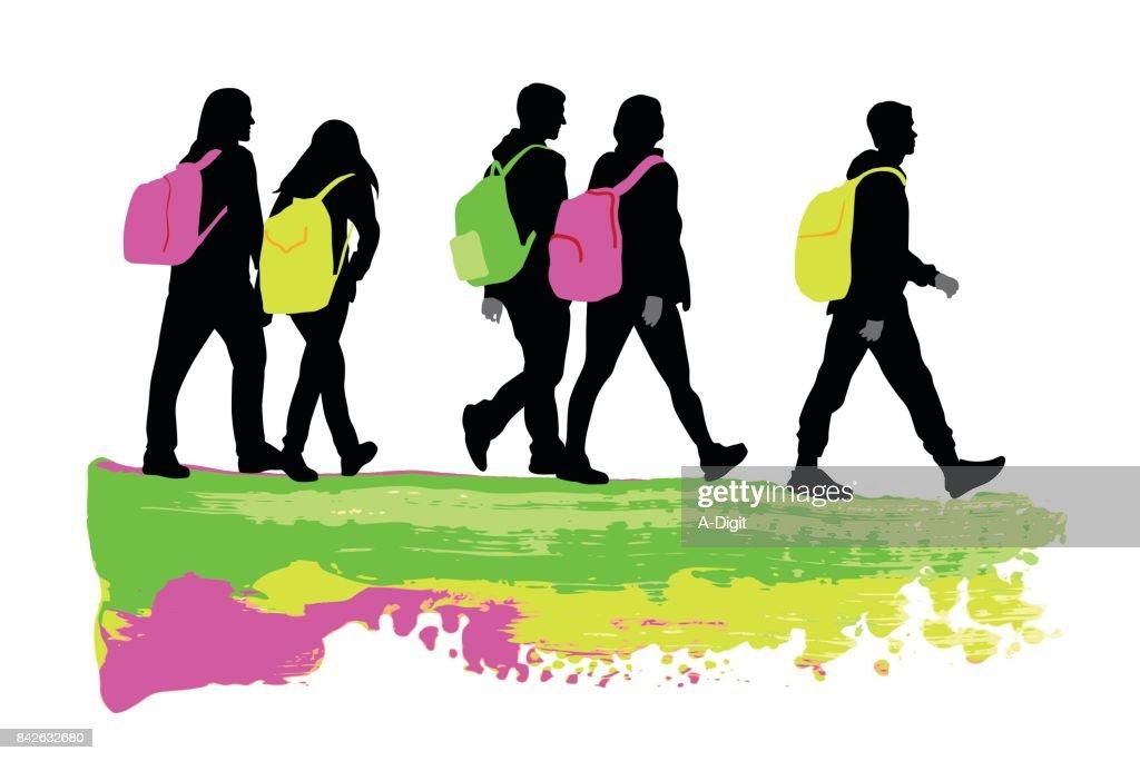 Personality Teens : Stock Illustration