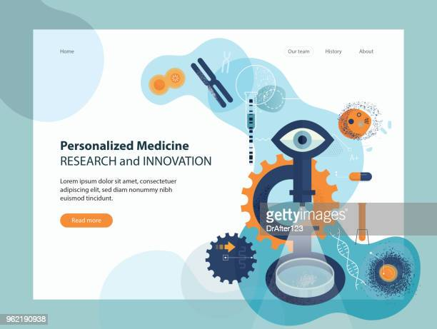 personalized medicine research innovation - microbiology stock illustrations